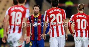 Messi sees pink as Bilbao stun Barca to win Spanish Tremendous Cup