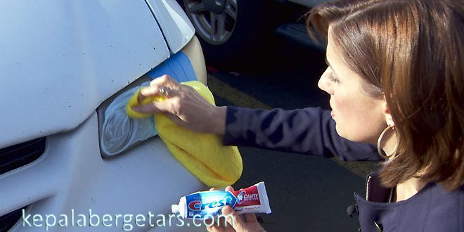 Reasonable vehicle care recommendations using olive oil or toothpaste are the simplest